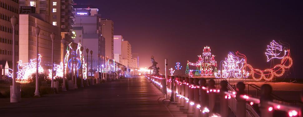 Boardwalk Lights Long Beach NY - Metro Limousine Service