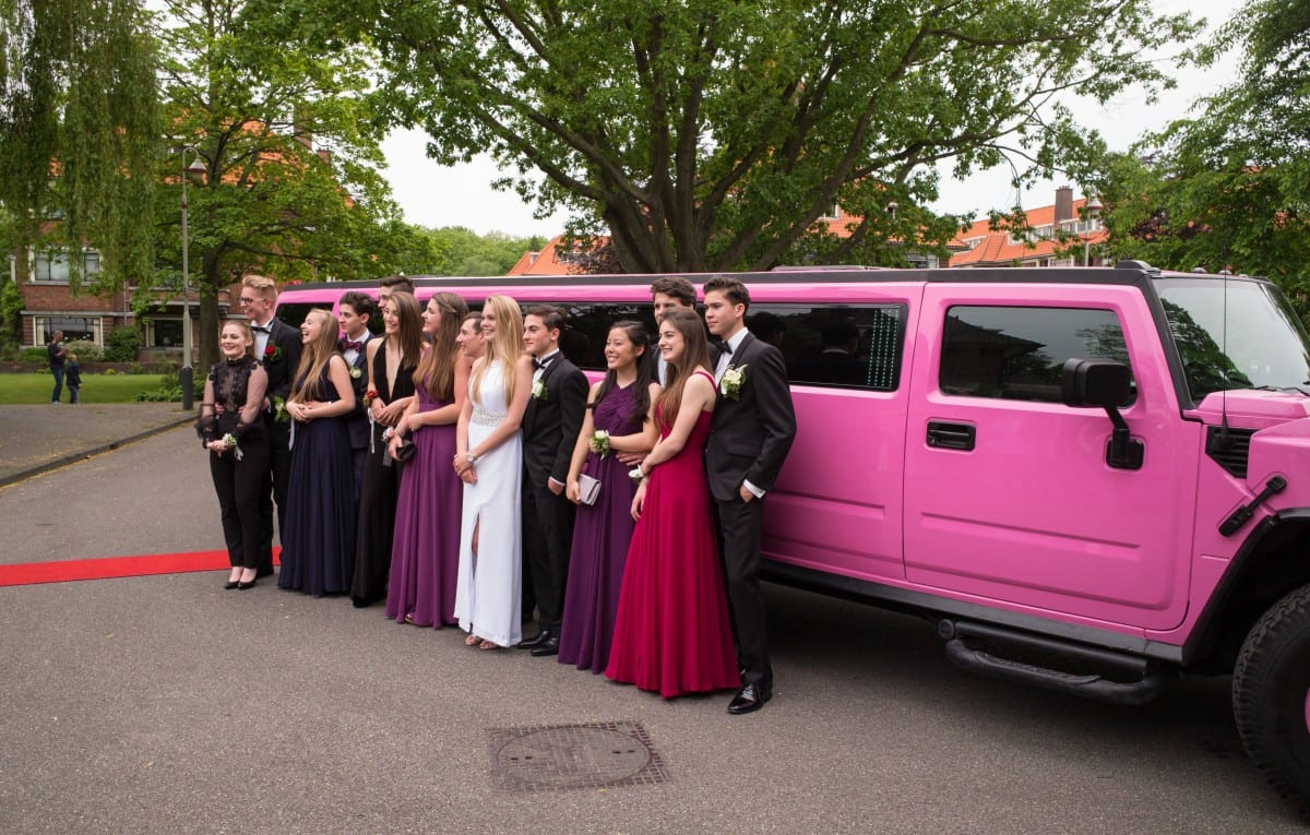 Pink Hummer for Prom in Long Island NY