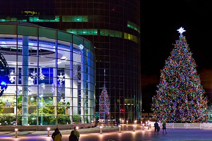 RXR Plaza Christmas Lighting Long Island NY