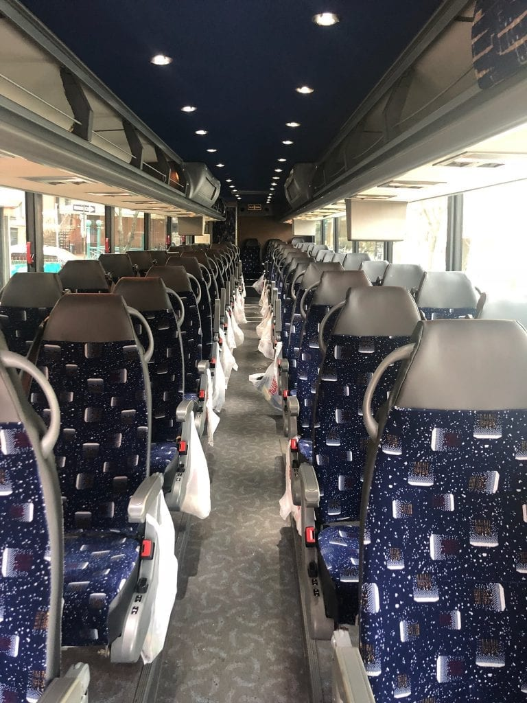 56 Passenger Coach Bus Seating Arrangements