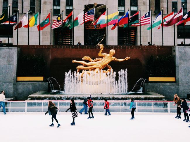 Rockefeller Center Ice Skating Rink in NYC with Metro Limousine Service